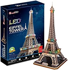 CubicFun- Puzzle 3D LED Torre Eiffel (CPA Toy Group Trading S.L. 5523214)