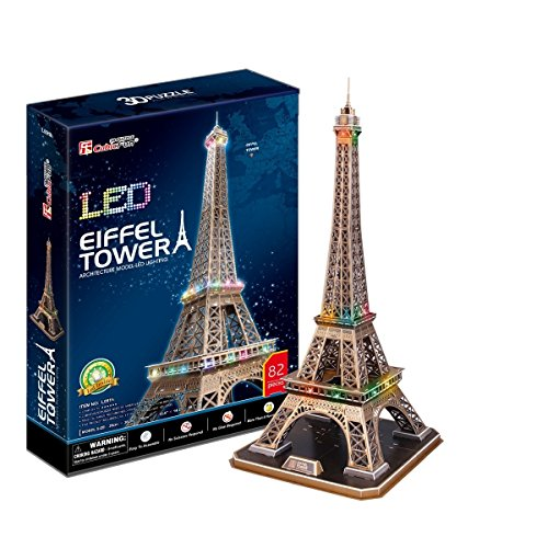 CubicFun- Puzzle 3D LED Torre Eiffel (CPA Toy Group Trading