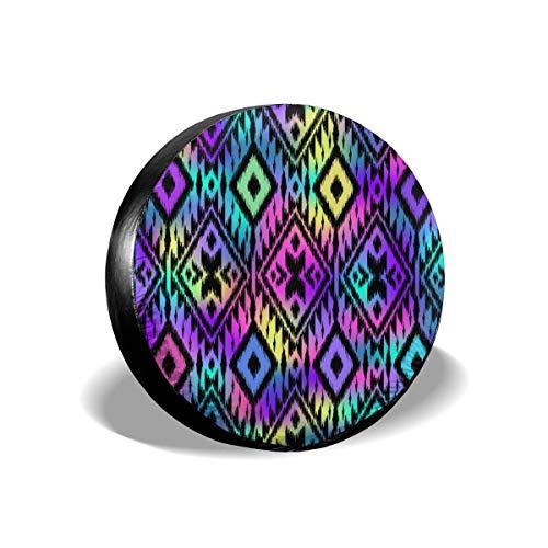 Hokdny Cubierta de neumático de Punto de Cubierta de neumático de Arco Iris Abstracto Multicolor