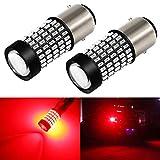 Phinlion 1157 LED Brake Light Bulbs 2800 Lumens Super Bright 3014 103SMD 2057 2357 7528 BAY15D LED Bulb for Turn Signal Blinker Tail Stop Lights, Red