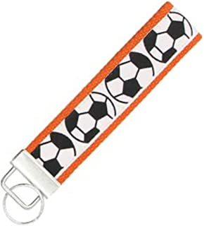 Soccer Keychain, Soccer Gifts, Soccer Wristlet FOB, Proud...
