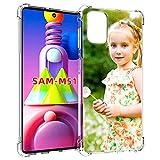 SHUMEI hülle für Samsung Galaxy M51 Personalisiertes Foto, Geschenk, Stoßdämpfung, weich, Transparent, TPU, DIY HD-Bild, Personalisierbar hülle