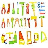 WUJIAN Bauwesen Spielzeug Mehrfarbige Werkzeuge und Tragetasche Kinder DIY Reparatur Werkzeuge BAU...