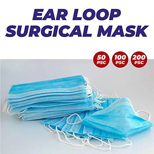 ZDAMN Masker Filter Masker - 3-Ply Wegwerp Gezichtsmasker Ademend Veiligheidsmasker voor Luchtvervuiling Wegwerp Gezichtsmaskers (Kleur : 50PCS, Maat : Vrije maat)