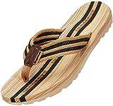 Infradito Uomo Donna Sandali Flip Flops Pantofole Ciabatte da Mare per Spiaggia e Piscina Estate Scarpe da Casa, Nero, 36 EU