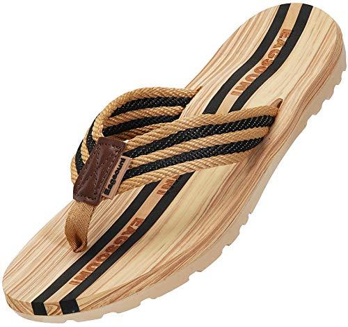 Infradito Uomo Donna Sandali Flip Flops Pantofole Ciabatte da Mare per Spiaggia e Piscina Estate Scarpe da Casa, Nero, 42 EU