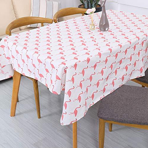 LYDCX Flamingo Imperméable Sauvage Moderne Simple Tissu Coton Et Lin Meuble TV Table Basse Nappe Couverture Housse De Serviette Rose 140 * 250Cm