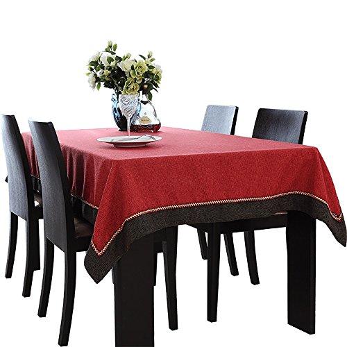 Tischdecken Tischtuch Moderne Minimalistische Chinesische Kaffeetisch Tischdecke Konferenz Tischdecke Rot Runde Tisch ( größe : 140*160cm )