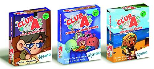 Club A. Pack 3 Juegos Orientación Andújar. Verita la monstruita, Luca el Escritor y Renata la Pirata