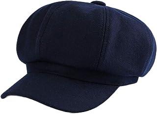 Hengwo Newsboy Cap French Beret Wool Solid Color Womens Beanie Cap Hat Elastic