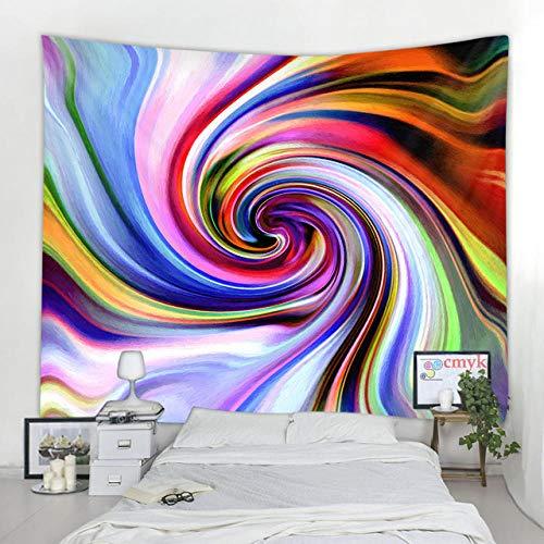 Tapiz con Estampado de Remolino de Color para Colgar en la Pared, Tela nórdica para el hogar, Pintura Colgante, Manta Decorativa, Toalla de Playa, Alfombra