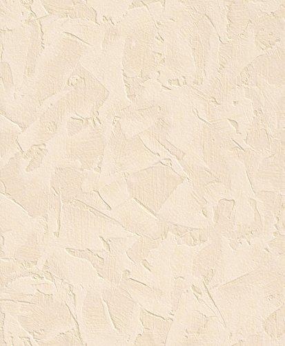 Rasch Tapete 871715, Vliestapete Putz beige 10,05x0,53m