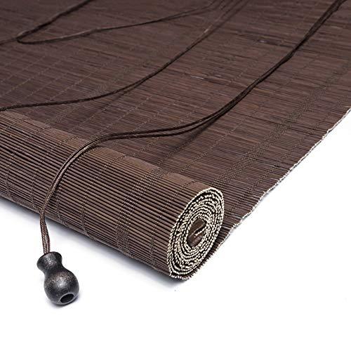 FF Tende a Rullo Tendina avvolgibile in bambù Tendina Parasole, Gazebo da Giardino Rullo Oscurante for Sala da tè Balcone divisorio, Largo 80/100/120/130/140 cm (Size : 140×300cm)