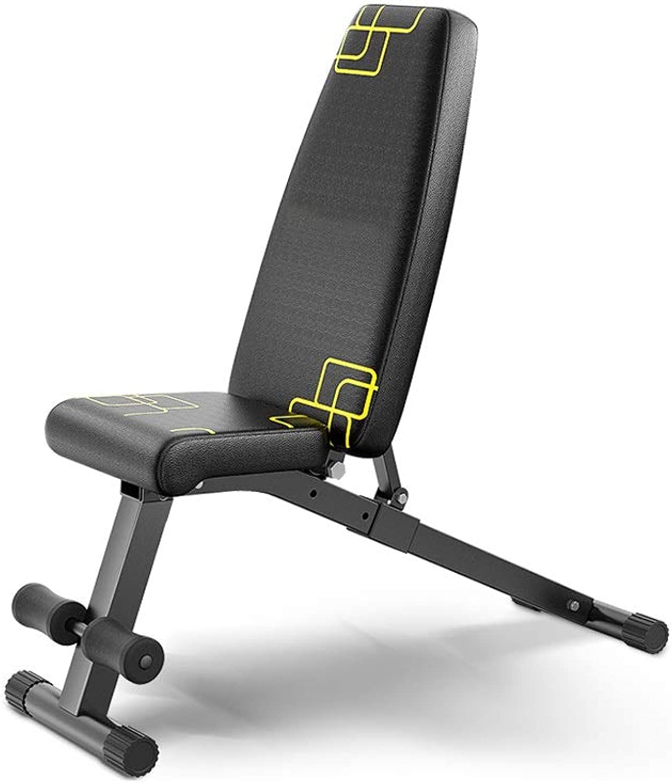 DUXX ダンベルベンチ、ホームシットアップフィットネス機器折り畳み式の腹部ボードダンベルベンチ(2色) トレーニングベンチ