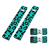 MightySkins 2 Pack of Full Coverage Skins Compatible with Juul and Charger - Teal Leopard | Protective, Durable, and Unique Vinyl Wrap Cover | Easy to Apply, Remove | Made in The USA