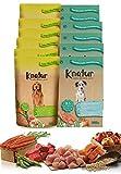 Alimento Natural casero para Perros, húmedo con Carne Fresca y Verduras Frescas - 90% Carne Knatur (12x600gr) (Mix (salmón) - (Cordero, Pollo))