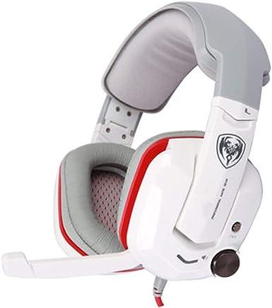 USB Gaming Headset - Dolby 7.1 Surround Sound Cuffie, Auricolare Stereo di Gioco per PS4, PC, Xbox Un Controller, Rumore annulla sopra Le Cuffie dell'orecchio con Il Mic,-White - Trova i prezzi più bassi