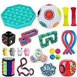 Zhangpu 22pcs Kit de Juguetes Sensoriales, Juguetes sensoriales para el Autismo, Alivia el estrés y la ansiedad Fidget Toy, Juguetes Autismo Fidget para niños y Adultos Fiddle Toys