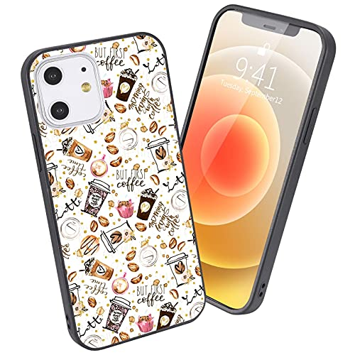 LuGeKe Cute Coffee Phone Case for iPhone7/iPhone8/iPhone SE 2020,Coffee Bean Design Case Cover,HardPCBackwithTPUBumper Anti-Stratch Bumper Protective Cute Girls Phonecase(Coffee Bean)