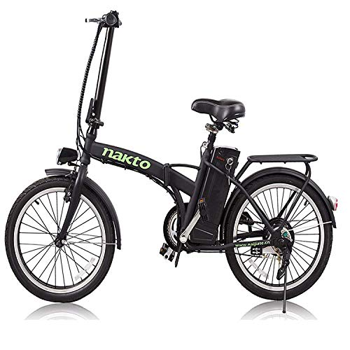 """NAKTO 20"""" 250W Foldaway/City Electric Bike Assisted Electric Bicycle Sport Mountain Bicycle with 36V10A Removable Lithium Battery ebike"""