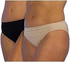 UpSpring Baby C-Panty C-Section Recovery Underwear, Postpartum Compression Underwear, Classic Waist (2pack - Medium) Beige/Black