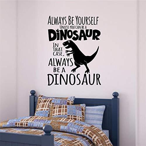 BailongXiao Forever Dinosaur Vinyl Aufkleber Wandaufkleber Boy Art Home Decoration Vinyl Wandaufkleber 104x79cm