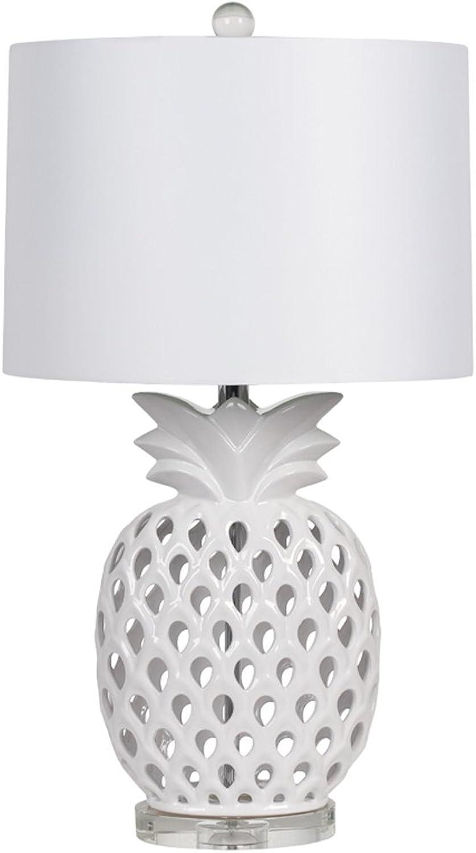 ZSFWY European Style Keramik Tischlampe Indoor Lighting Lampen Schlafzimmer Nachttisch Lampe Creative Hollow Wohnzimmer Study Zimmer Licht E27 Lichtquelle Button Open B07GCY53YS     | Authentische Garantie