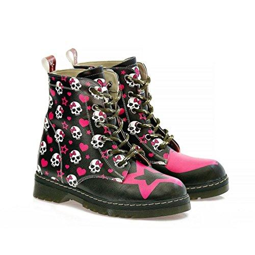 Skull Star Long Boots NMAR108