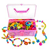 Gili Pop Beads, Jewelry Making Kit for 4, 5, 6, 7 Year Old Little Girls, Arts and Crafts Toys for...