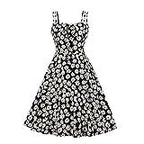 DressU Women's Printing Premium Elegent Sexy Sling Cocktail Party Dress Black S