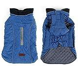 Rantow Manteau de Chien réfléchissant Gilet d'hiver pour Animaux de Compagnie Loft Jacket pour Petits Chiens de Taille Moyenne Combinaison Anti-Vent Coupe-Vent (XS, Bleu)