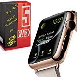 High Performance Sport iWatch [Full Cover] Screen Protector Film for Apple Watch Screen Protector 38MM 42MM 40MM 44MM, Soft Full Shield fit for Apple Watch Band 2018 Apple Watch Series 4/3/2/1