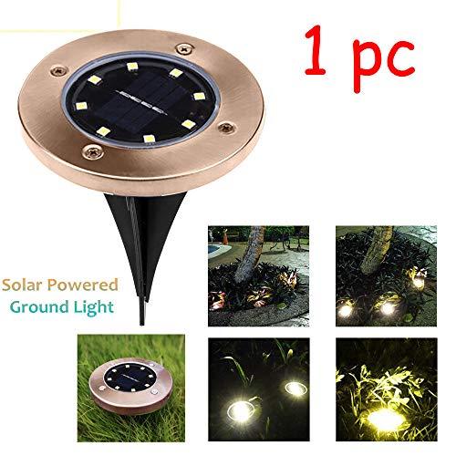 ? Tefamore 8 LED Luz Solar Jardín de Tierra Balizas Solares Exterior Jardin Decorativa Luz Blanca
