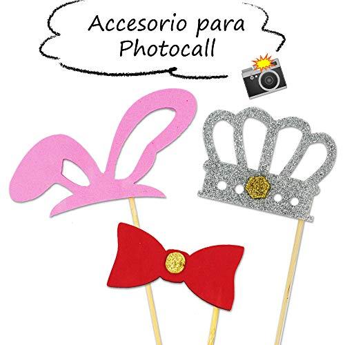 Starplast Accesorios para Photocall, Accesorios De Goma Eva, 3 Piezas, para Bodas, Cumpleaños, Fiestas, etc. Modelo 5