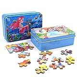 WENTS Rompecabezas para niños 120PCS Princess Adventure Rompecabezas Meerjungfrau-Puzzle Cinderella Puzzle Jigsaw Puzzle Box Set Multicolor para niños a Partir de 3 años