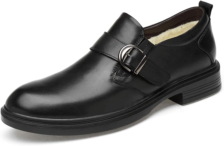 2018 Mens Oxfords shoes, Business Oxford Casual Classic Rustproof Metal Buckle Decoration Faux Fleece Inside Slip On Leisure Big Size shoes for Men