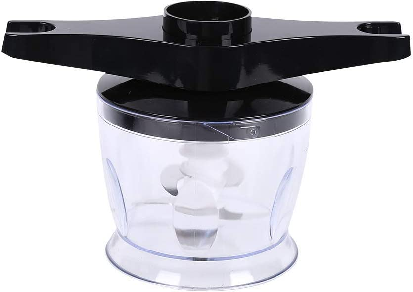 4-in-1 Stabmixerset, Küchenhandmixer Edelstahl-Handmixer, Mixer 600W Mixer Mixer Chopper Küchenmaschine, Stabmixer, 600 ml Behälterbecher, Schwarz White