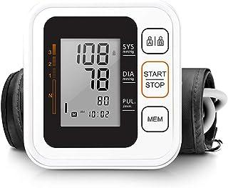 Monitor clínico automatizado de presión arterial Aprobado por la FDA por pantalla grande Estuche portátil Presión arterial de latido cardíaco irregular y brazalete ajustable para monitoreo de salud