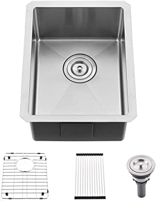 Kraus Khu101 10 Standart Pro Undermount 16 Gauge Stainless Steel Single Bowl Bar Prep Kitchen Sink 10 Inch
