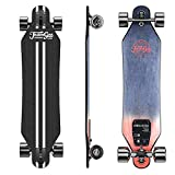 Teamgee H5 37' Electric Skateboard, 22 MPH Top Speed, 760W Dual Motor, 11 Miles Range, 14.5 Lbs, 10 Layers Maple Longboard with Wireless Remote Control