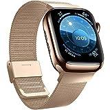 Jinlida Compatible con Apple Watch Correa,Correas de Repuesto de Bucle Inoxidable Transpirable...