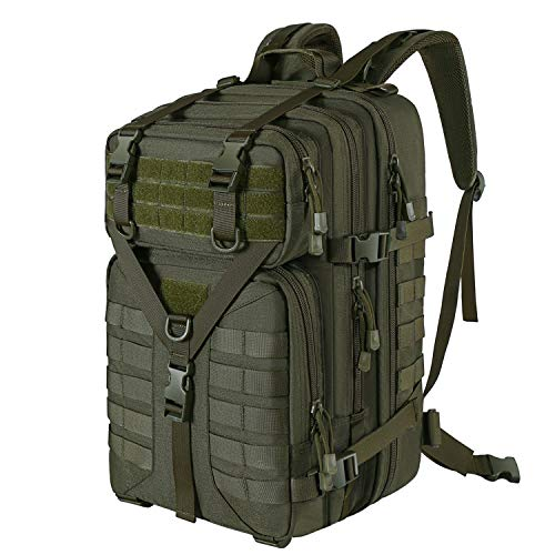 MOSISO 50L Tactical Backpack, Large Men 3 Day Assault Rucksack Military Daypack, Army Green