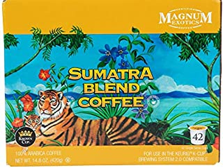 Magnum Exotics Sumatra Blend Ground Coffee K-Cups (42-count) Flavor-Fully Roasted From The Finest Arabica Coffee Beans