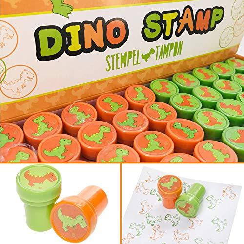 10 Stempel * Dino & T-REX * als Mitgebsel für Kindergeburtstag oder Dinosaurier-Mottoparty | Perfekt zum basteln, malen, als Geschenk und Spiel für Kinder