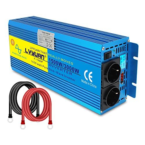 Yinleader Inversor De Corriente Onda Sinusoidal Pura 1500W 3000W Transformador De 12v...