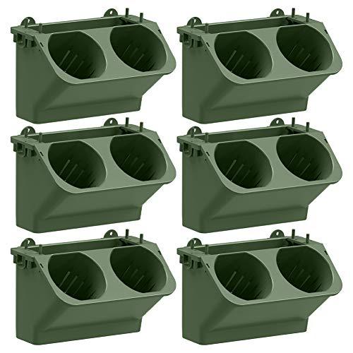 Jardín vertical con bolsillo de pared para riego automático, soporte para pared de color verde oscuro para interior y exterior, paquete de 6