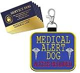 "WORKINGSERVICEDOG.COM ""Medical Alert Dog - Clip On Identification Patch Tag - Includes Five Service Dog Handout Cards - Clips onto a Service Dog Vest, Harness, Collar, Leash or Carrier"