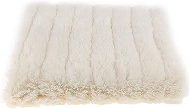 Baoblaze Reversible Soft Plush Sofa Cover Settee Couch Pad Blanket Furniture Protector Window Mat Floor Carpet Mat Area Ru...
