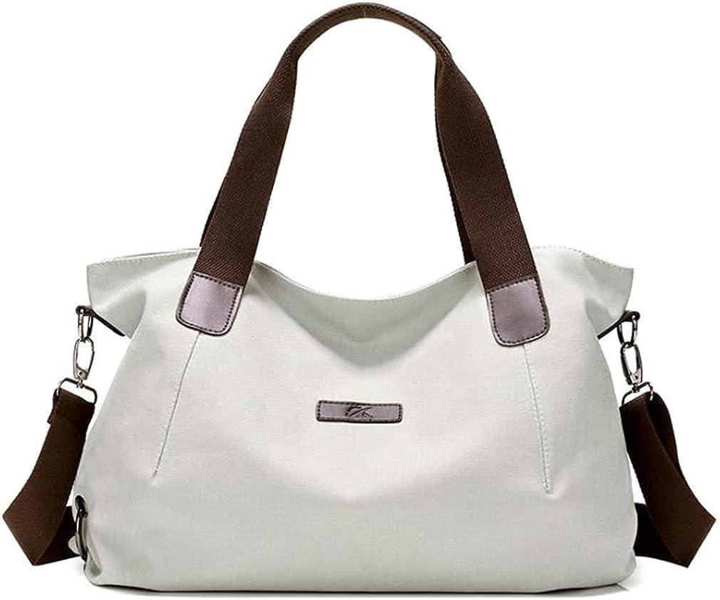 Women's Retro Large Size Shoulder Bag Hobo Crossbody Handbag Casual Tote Rucksack Water-Repellent