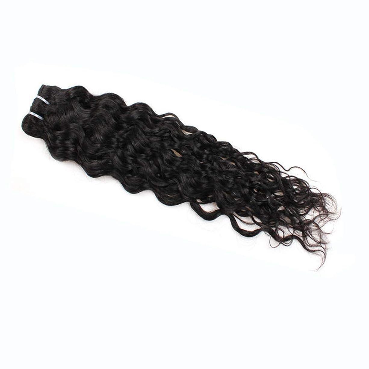 煩わしいドア廃棄するYESONEEP 7a未処理のバージンブラジル髪織り100%ブラジル水波人間の毛髪延長100グラム/バンドルナチュラルカラーパックの1複合ヘアレースかつらロールプレイングウィッグロングとショート女性自然 (色 : 黒, サイズ : 16 inch)